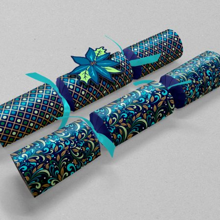 Peacock Christmas Crackers Design