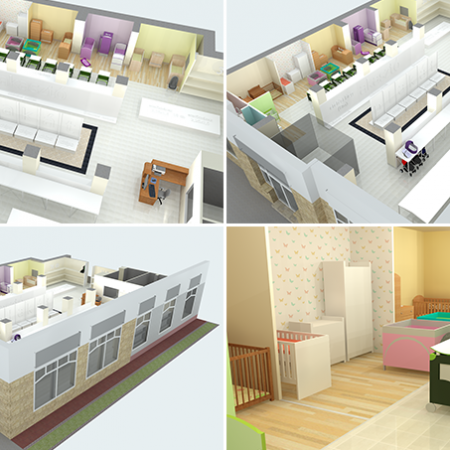 SketchUp - Retail store 3D visual